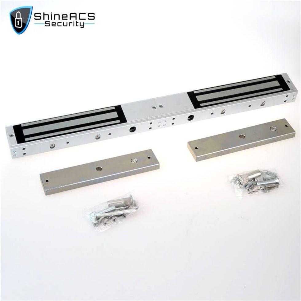 280kg Double Door Magnetic Lock SL M280D 1 980x980 - 280kg Electromagnetic lock for glass door SL-M280D