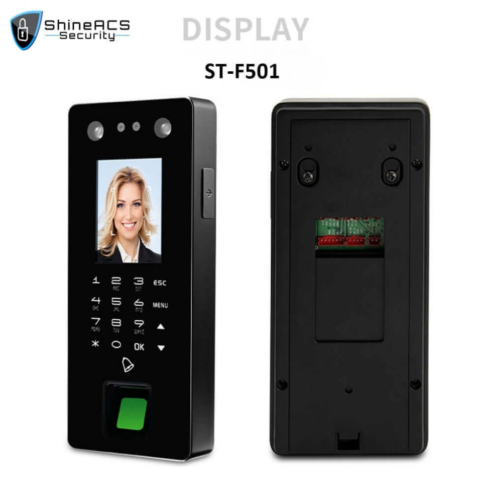 Time Attendance device ST F501 DISPLAY 980x980 - Time Attendance and Access Control System Biometric Machine ST-F501