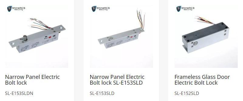 ShineACS Elektrikli blot kilidi - Kapı erişim kontrol sistemi yapılandırma Kılavuzu