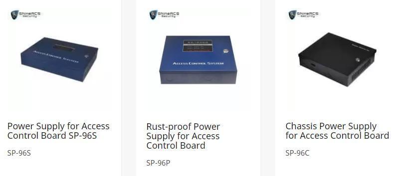 ShineACS erişim kontrolü güç kaynağı - Kapı erişim kontrol sistemi yapılandırma Kılavuzu