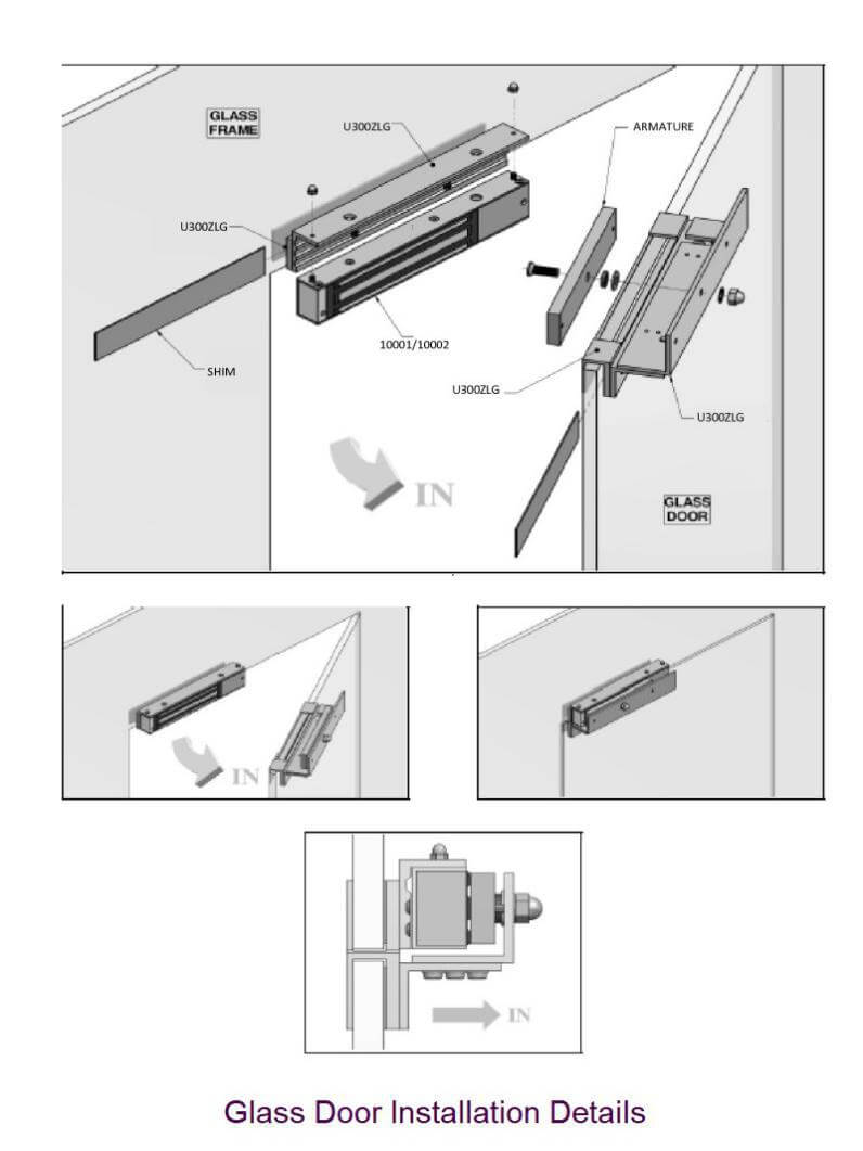 Glassdoor maglock installation details - Maglock installation for gates in access control system design and installation